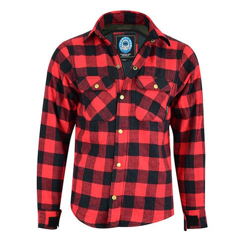 Image of Johnny Reb 'waratah' Plaid Kevlar® Shirt-Red