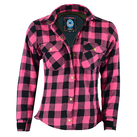 Image of Johnny Reb Womens 'waratah' Plaid Protective Shirt - Reinforced With Protective- Fibre-JRS10004