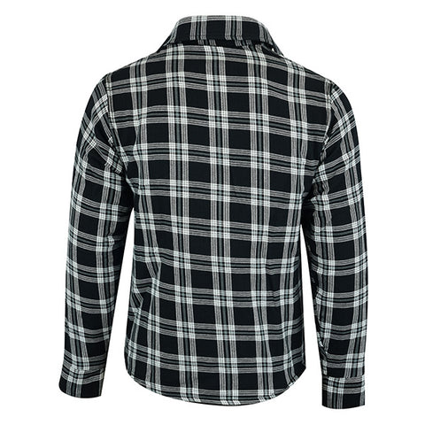 Image of Johnny Reb 'waratah' Plaid Protective- Shirt-Black