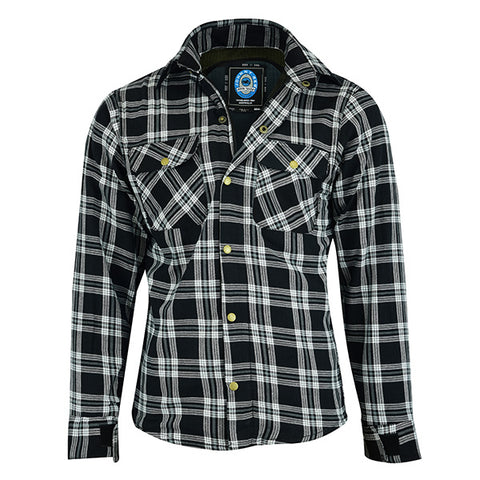 Johnny Reb 'waratah' Plaid Protective- Shirt-Black