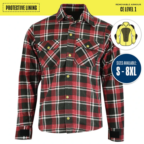 Image of Johnny Reb 'waratah' Plaid Protective- Shirt