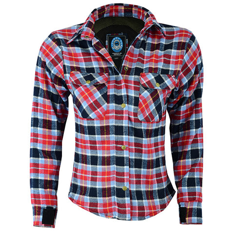 Image of Johnny Reb Womens 'waratah' Plaid Protective Shirt - Reinforced With Dupont™ Kevlar® Fibre-JRS10009