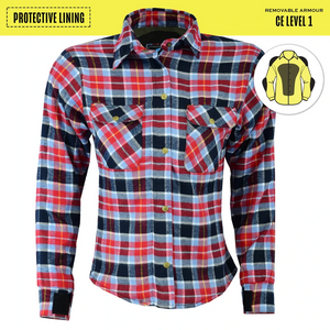 Johnny Reb Womens 'waratah' Plaid Protective Shirt - Reinforced With Protective- Fibre-JRS10009