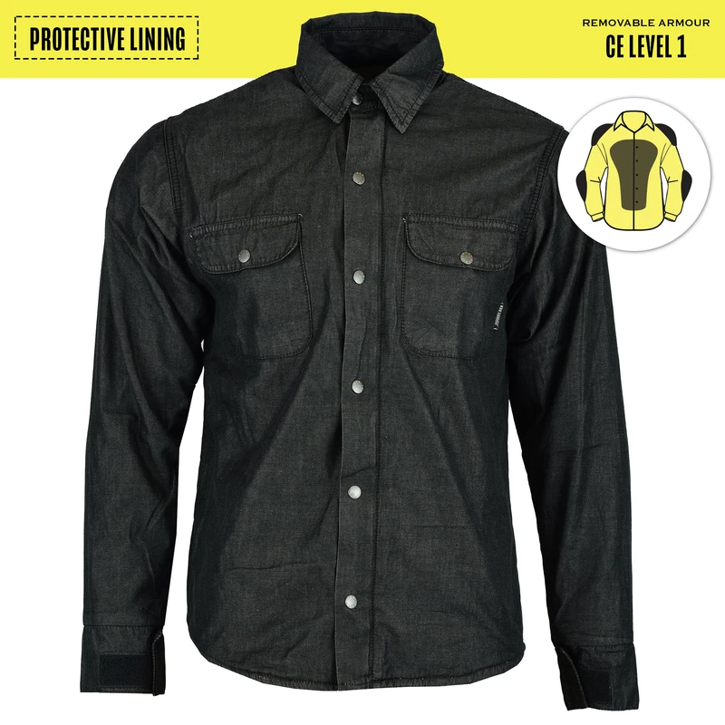 Men's Blackheath Protective Shirt Protective- Lined- Black