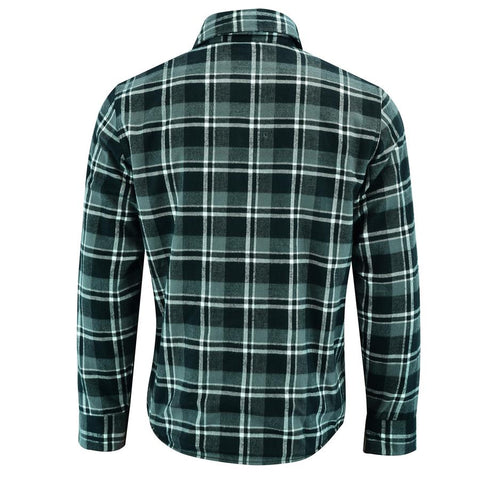 Image of Men's Waratah Protective Shirt Protective- Lined-Dark Green