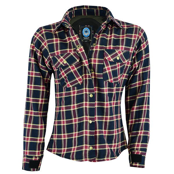Johnny Reb Womens 'waratah' Plaid Protective Shirt - Reinforced With Protective- Fibre