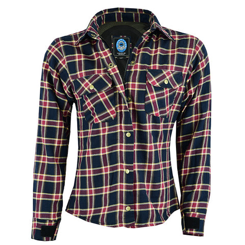 Image of Johnny Reb Womens 'waratah' Plaid Protective Shirt - Reinforced With Dupont™ Kevlar® Fibre