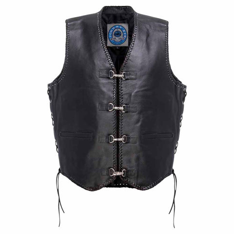 Image of Johnny Reb Capricorn Leather Motorcycle Vest