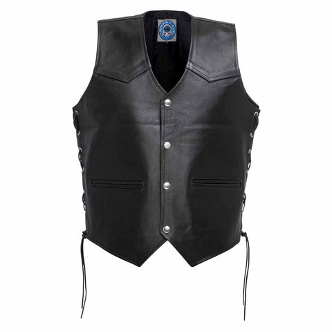 "Johnny Reb ""Tasman""Motorcycle Leather Vest"