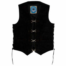 Load image into Gallery viewer, Johnny Reb Longreach Leather Motorcycle Vest