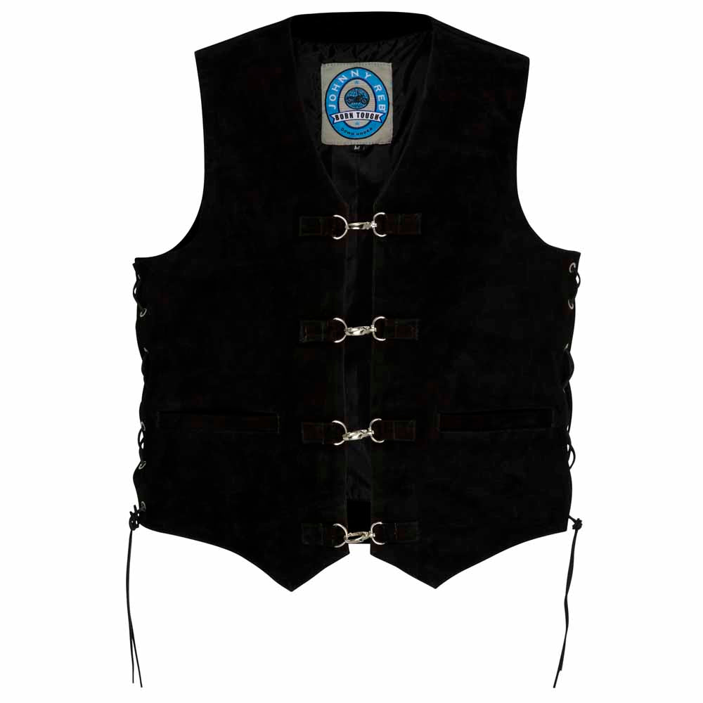 Johnny Reb Longreach Leather Motorcycle Vest