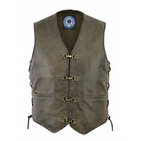 "Johnny Reb ""Sturt"" Vintage Leather Motorcycle Vest"