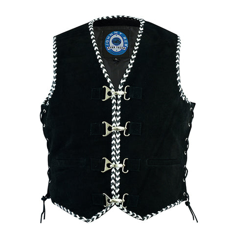 "Image of Johnny Reb ""Springbrook"" Suede Leather Vest"