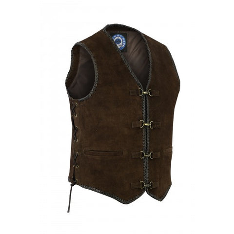 "Image of Johnny Reb ""Gillies' Suede Leather Vest"