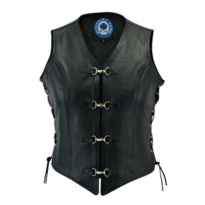 Johhny Reb Womens Saphire Leather Vest