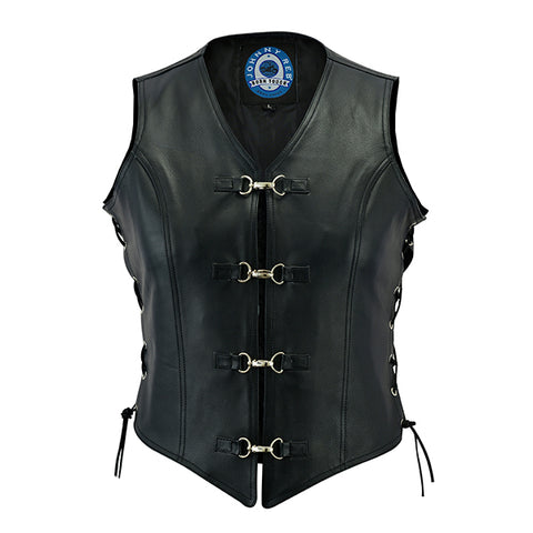 Image of Johhny Reb Womens Saphire Leather Vest