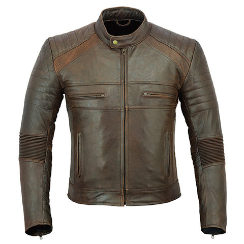 Image of Johnny Reb 'Botany' Vintage Leather Jacket-Brown
