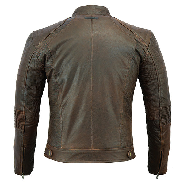 Johnny Reb 'Botany' Vintage Leather Jacket-Brown