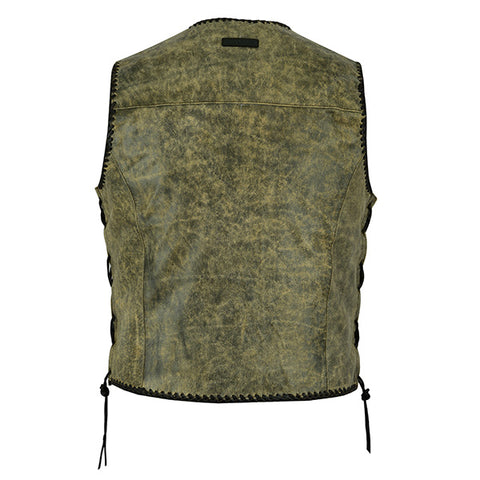 "Image of Johnny Reb ""Sturt"" Mungai Vintage Leather Vest"