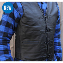 "Load image into Gallery viewer, Johnny Reb ""Murray"" Leather Vest"