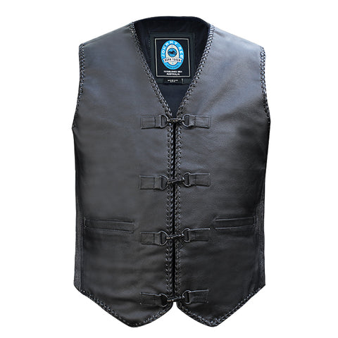 "Image of Johnny Reb ""Murray"" Leather Vest"