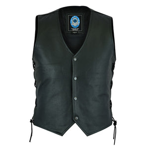 "Johnny Reb ""Plenty"" Leather Motorcycle Vest"