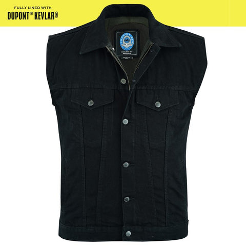 Men's Glenbrook Protective Denim Vest | Protective- Lined-Black