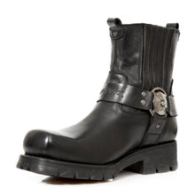 Load image into Gallery viewer, New Rock Harness Boot Natural Leather Blake Construction