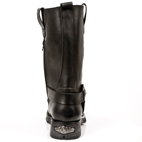 Image of New Rock Tall Harness Boots Natural Leather Rubber Soles-M-7610-S1