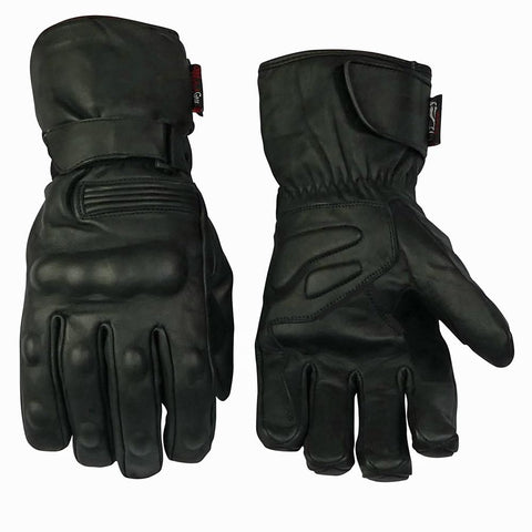 Image of Full Leather Glove With All Over Finger And Knuckle Protection-Cruiser-SIZE S ONLY