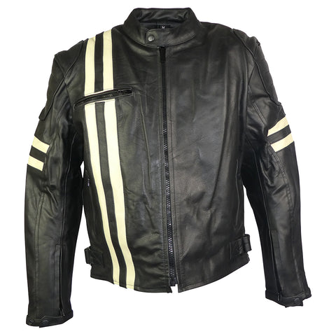 Image of Classic Retro Leather Jacket-Jupiter