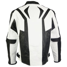 Load image into Gallery viewer, Sports Style Black White Motorcycle Jacket-Lightning