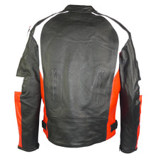 Load image into Gallery viewer, Sports Style Red White Motorcycle Jacket-Thunder