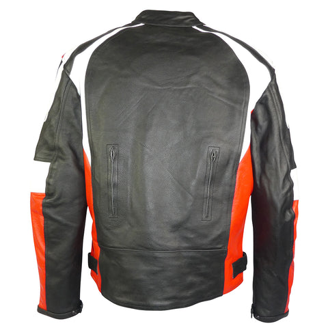 Image of Sports Style Red White Motorcycle Jacket-Thunder