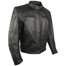 Load image into Gallery viewer, Classic Style Leather Motorcycle Jacket-Turbo