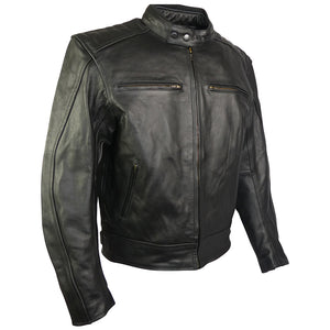 Classic Style Leather Motorcycle Jacket-Turbo