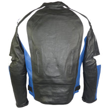 Load image into Gallery viewer, Sports Style Blue White Motorcycle Jacket-Thunder Blue