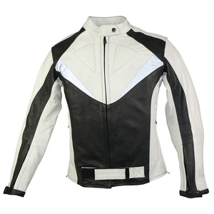Womens Black & White Sport Rider Jacket-Ruby-SIZE S ONLY!