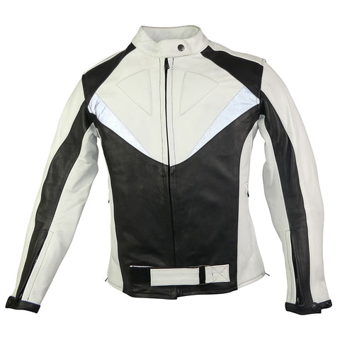 Image of Womens Black & White Sport Rider Jacket-Ruby-SIZE S ONLY!