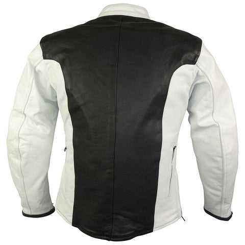 Image of Black & White Sport Rider Jacket-Ruby