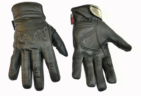 Image of Soft Nappa Genuine Leather Riding Gloves Raptor