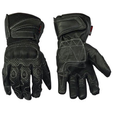 Load image into Gallery viewer, Leather And Mesh Lightweight Summer Motorcycle Gloves