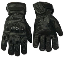 Load image into Gallery viewer, Leather And Breathable Mesh Lightweight Summer Motorcycle Gloves-Colt