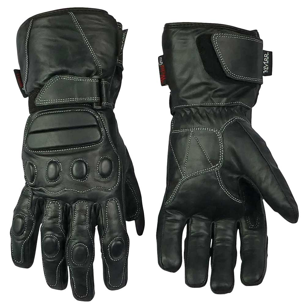 Full Leather Glove With All Over Finger And Knuckle Protection-Don