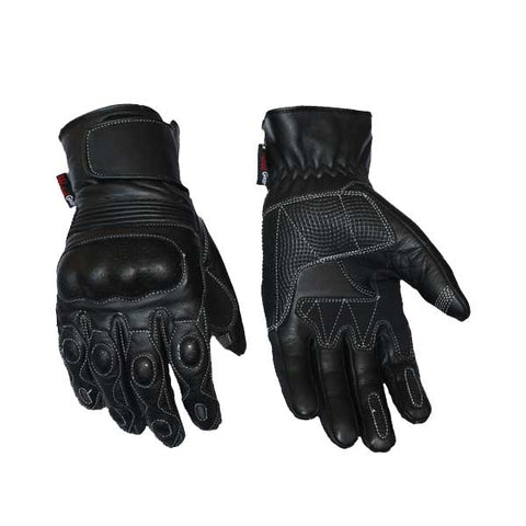 Image of Perforated And Breathable Leather Glove Zeus