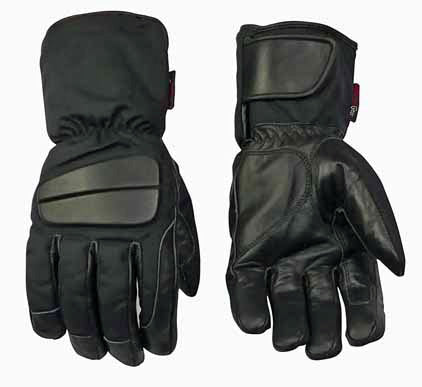 Image of Leather And Textile Gloves- Mars-Size S ONLY