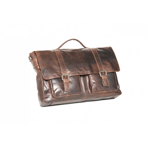 Image of Emmerson Soft Vinatge Feel Leather Satchel