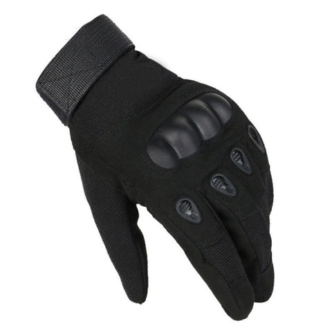 Motorcycle Gloves With Molded Knuckle Protection