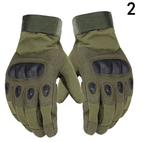 Image of Motorcycle Gloves With Molded Knuckle Protection