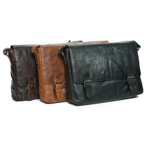 Image of Mason Vintage Leather Messenger Bag
